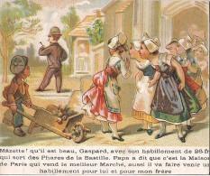 CHROMO AUX PHARES DE LA BASTILLE A PARIS MAZETTE QU'IL EST BEAU GASPARD - Trade Cards