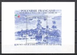 POLYNESIE 1985  YT BF    BATEAU  EXPO MONDIALE PHILATELIE  EITALIA 85 - Polynésie Française