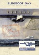 Deutschland 2004 Mi 2428 FDC X4, Flugboot Do X, Jahresgabe Der Deutschen Post, Sonderfolder Tag Der Briefmarke - BRD