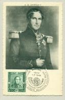 België Belgique - 1949 -  Maximumkaart 100 Jaar Postzegels - 90c Leopold I - Cartes-maximum (CM)