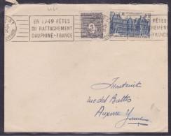 France Type Arc De Triomphe Sur Lettre - 1944-45 Arc De Triomphe