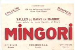Buvard MINGORI128 Bld De Charonne Paris XX ème Abreuvoirs, Salle De Bains En Marbre, Mitigeurs , Robinetterie - Buvards, Protège-cahiers Illustrés