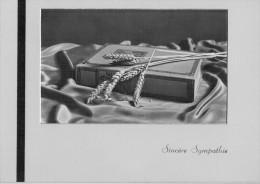 BIGLIETTO GRANDE  SINCERE SYMPATHIE   (USATO) - Avvisi Di Necrologio