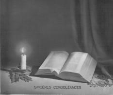 BIGLIETTO GRANDE  SINCERES   CONDOLEANCES   (USATO) - Avvisi Di Necrologio