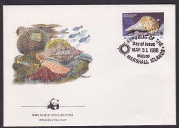 Coquillage - Ile Marshall - FDC