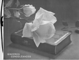 BIGLIETTO  SINCERES  CONDOLEANCES   (USATO) - Avvisi Di Necrologio