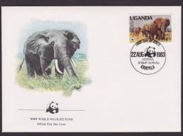 Elephant - Uganda - FDC