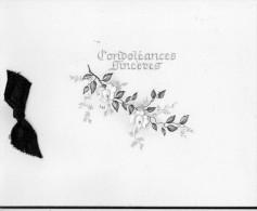 BIGLIETTO   CONDOLEANCES SINCERES  (USATO) - Avvisi Di Necrologio