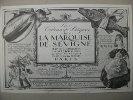 Publicité Chocolat La Marquise De Sévigné -ROYAT - 1924 - Advertising