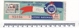 Billet De La Loterie Nationale - Fédération Nationale De Sauvetage, 1955 - Billetes De Lotería