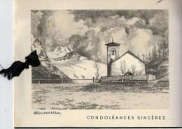 BIGLIETTO GRANDE  CONDOLEANCES  SINCERES   (USATO) - Avvisi Di Necrologio
