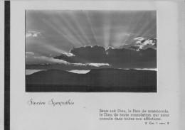 BIGLIETTO GRANDE  SINCERES SYMPATHIE   (USATO) - Avvisi Di Necrologio