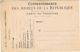 Correspondance Des Armees De La Republique - Storia Postale