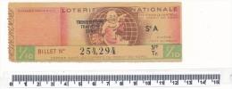 Billet De La Loterie Nationale - Petit Quinquin, 1946 - Billetes De Lotería