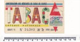Billet De La Loterie Nationale - Débitants De Tabac De France, 1956 - Billetes De Lotería