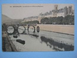 CPA Colorisée Non écrite Années 1910 - BESANCON - Les Quais, Pont De Battant - Barques, Tramway, Animée - Besancon