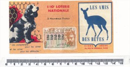 Billet De La Loterie Nationale - Les Amis Des Bètes, 1962 - Biglietti Della Lotteria
