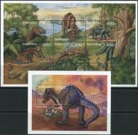 Tanzania 1999. Michel #3418/23+Bl.#457 MNH/Luxe. Dinosaurs (B49) - Postzegels