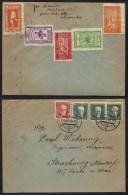 ESPERANTO / 1933 SERIE DE 5 VIGNETTES SUR LETTRE DE PRAGUE POUR LA FRANCE (ref 6040) - Esperanto