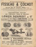 L'horlogerie - Catalogue N°80 - Fisseau Et Cochot – Lorch Schmidt - Paris – Tours Et Machines – Outils - France