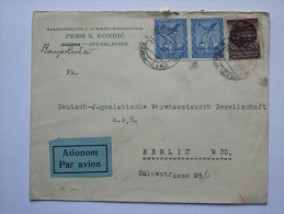YUGOSLAVIA 1935 AIR MAIL COVER BANJA LUKA BOSNIA HERZEGOVNIA TO BERLIN GERMANY - 1931-1941 Kingdom Of Yugoslavia