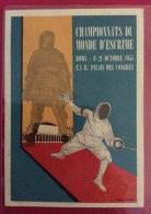 SCHERMA ROMA 1955 CAMPIONATI DEL MONDO SCHERMA ( CHAMPIONNATS DU MONDE D'ESCRIME)- DIS. ELIO TOMEI - Escrime