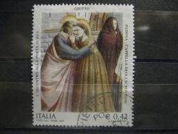 ITALIA USATI 2003 - AFFRESCHI CAPPELLA SCROVEGNI - SASSONE 2676 - RIF. G 0223 - 6. 1946-.. Repubblica