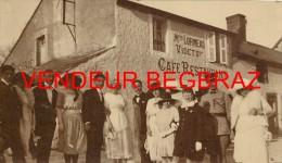 SAINT GERMAIN DU PUY     CARTE PHOTO CAFE RESTAURANT  LORMEAU   MARIAGE - Autres Communes