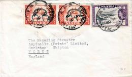NIGERIA - 3 Fach Frankierung Auf Brief Gel.von Nigeria - Yorks - Nigeria (1961-...)