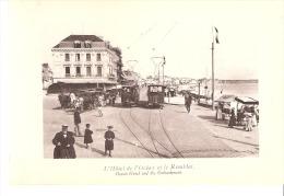 Les Sables D'Olonne (Vendée)-Hôtel De L'Océan Le Remblai-Tram-Tramway-attelages-Héliographies ND.Photo.-Dim. 17x11,6cm - Foto's