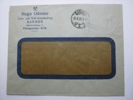 1923 ,  BARMEN    , Gebühr  Bezahlt  , Brief - Briefe U. Dokumente