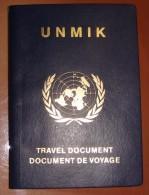 MEGA RARE UNITED NATIONS PASSPORT FOR KOSOVO 2002 - 2004