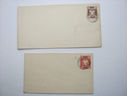 Localpost Shanghai ,  2 Postal Stationary , One With Overprint   1843-1893 - Oblitérés