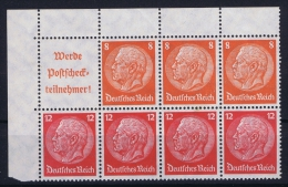 Deutsche Reich: Markenheftchen H-BL  H 100  MNH/**, Postfrisch  Sans Charnière - Deutschland