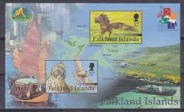 Falkland Islands 2001 Hong Kong M/s ** Mnh (22771) - Falkland Islands
