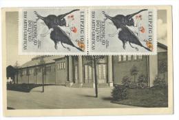 LEIPZIG (Allemagne) Carte Officielle N°23 Exposition Arts Graphiques 1914 - Maison De La Femme - Timbre En Portugais - Leipzig
