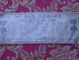 Gants De Soirée Chevreau Blanc , Pochette D´origine Au Bon Marché, Maison A.Boucicaut , Cousus Main , Boutons Nacre - Ante 1900