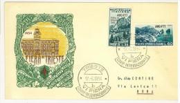 TRIESTE ZONA A -  6° FIERA DI TRIESTE - FDC - ANNULLO SPECIALE - AMG - FTT - ANNO 1954 - Storia Postale