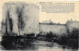 HAM  (cpa 80)  Château De HAM La Grosse Tour - Ham