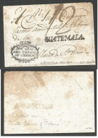 GUATEMALA. Cartas. C. 1797. GPO - Llanos De Sta. Rosa. Colonial Front / Tabaco Factory, Know Cachet + Stline GUATEMAL... - Guatemala