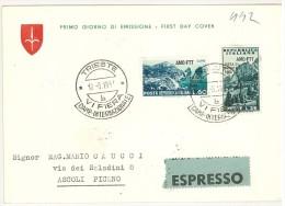 TRIESTE ZONA A -  6° FIERA DI TRIESTE - FDC - ANNULLO SPECIALE - AMG - FTT - ANNO 1954  - ESPRESSO - Storia Postale