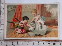 Chromo Fin XIX / NESTLE / APPEL / ENFANT BEBE CUILLERE POT FARINE - Autres
