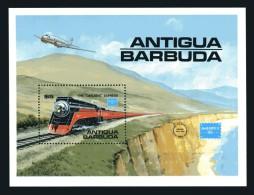 Antigua-Barbuda: Histor. Lokomotiven 1986 Kleinbogen; Postfrisch/MNH - Trains