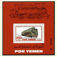 Jemen/Yemen: Histor. Lokomotiven 1983 Kleinbogen; Postfrisch/MNH - Trains