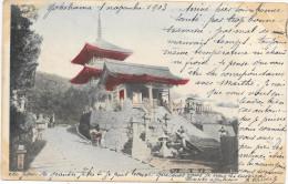 JAPON - YOKOHAMA - M II TEMPLE AT KYOTO - Circulé: 1903 - Yokohama