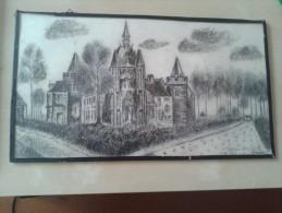 Laarne Chateau De Laerne, Pentekening 16-5-1943 - Dessins