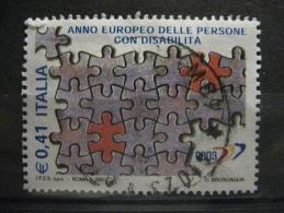 ITALIA USATI 2003 - ANNO EUROPEO DISABILITA ' - SASSONE 2671 - RIF. G 0232 - 6. 1946-.. Repubblica