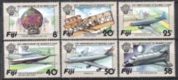 Fidschi-Inseln Fiji 1983 Luftfahrt Ballone Montgolfière Flugzeuge Aeroplanes Doppeldecker BOeing Raumfahrt, Mi. 483-8 ** - Fiji (1970-...)