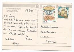 G3378 Rimini - Ciao Dall'Italia In Miniatura - 600 Lire Cibi Italiani - Francobolli Stamps Timbres / Viaggiata 1994 - 6. 1946-.. Repubblica