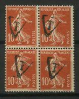 FRANCE ( P0STE/TAXE ? ) : Y&T N°  134 ? X 4 ,  TIMBRES NEUFS SANS TRACE DE CHARNIERE  , A  VOIR . - 1859-1955.. Ungebraucht
